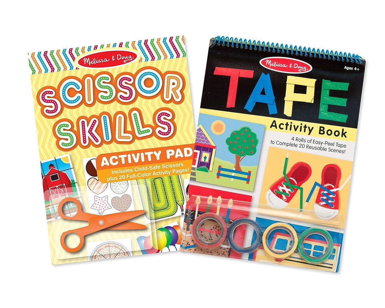 Melissa & Doug Scissor Skills and Tape Activity Books Set Melissa and Doug 93378