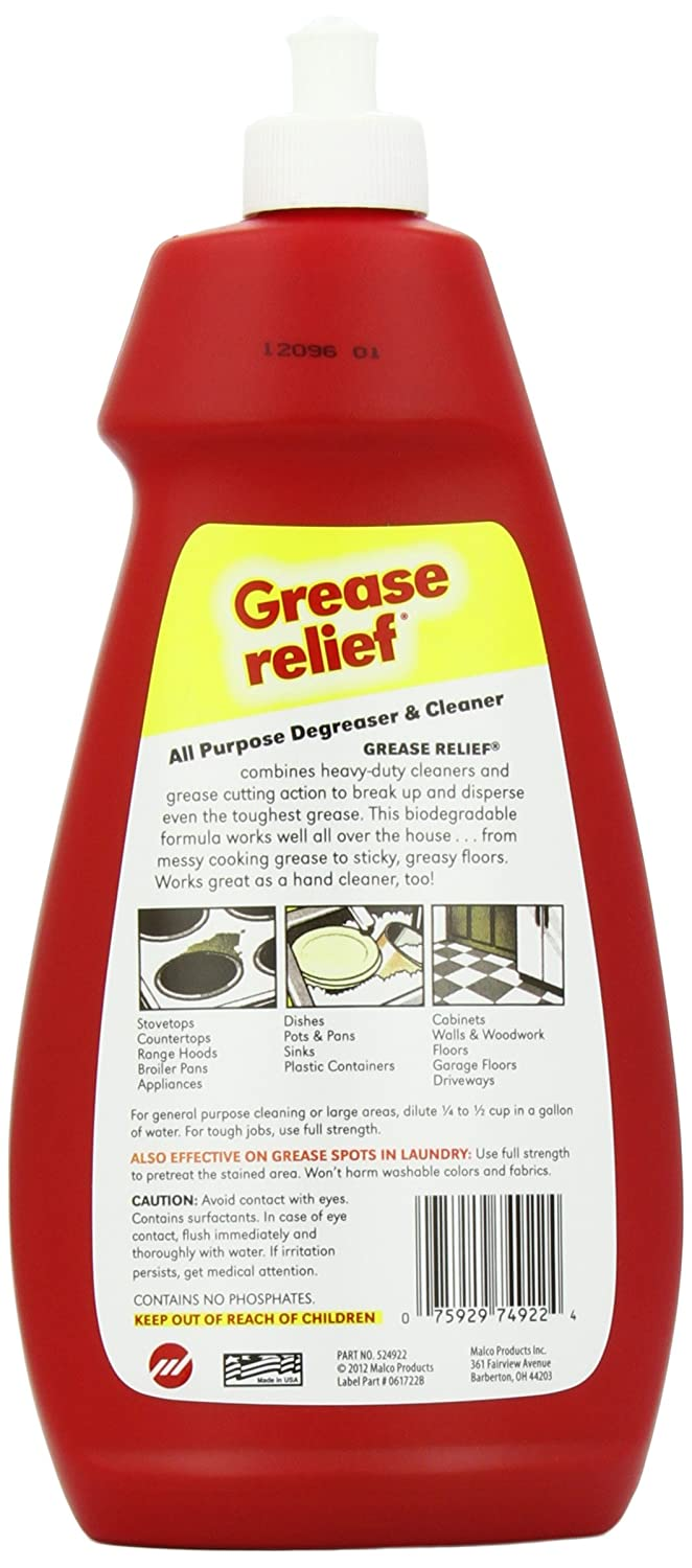 Amazon.com: Grease Relief All Purpose Degreaser and Cleaner, 22 ...