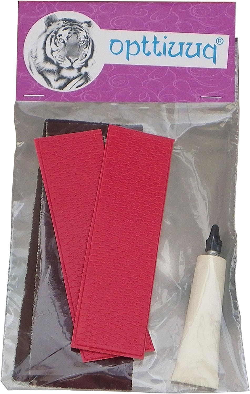 Opttiuuq FrontFoot Cricket Bat Toe Guard Repair Set Black
