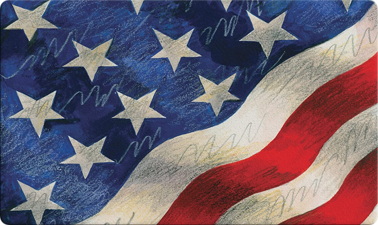 """USA Produced Toland Home Garden 830045 Star-Spangled Banner 18/"""" x 30/""""  Recycled Mat"""
