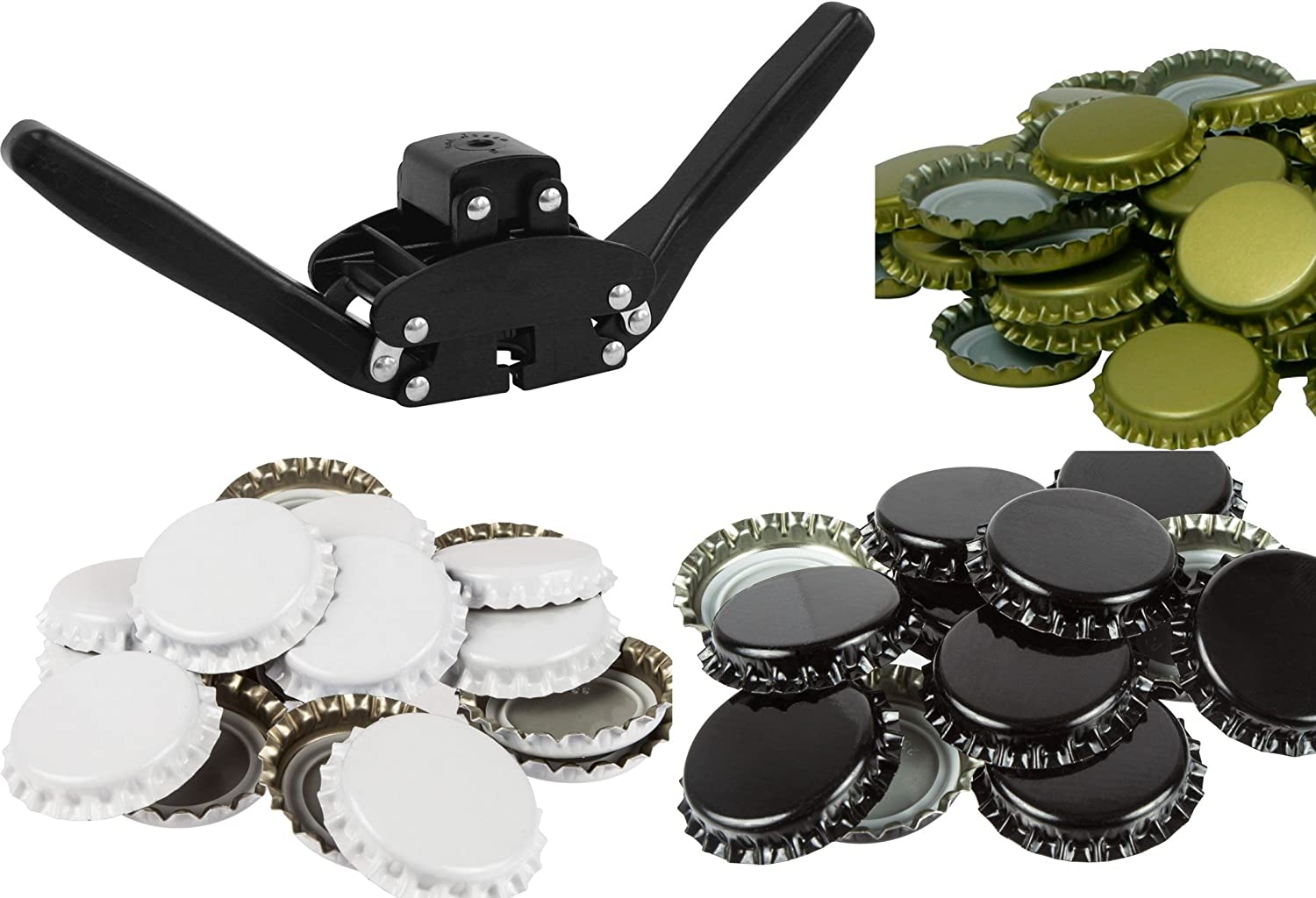 CAPPER KIT-TWO HANDED CAPPER WITH 250 MIXED CROWN CAPS,DELIVERY INCLUDED!! COSTWISE