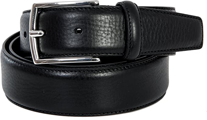 Mens Smart Casual Genuine Leather Belt Made In Italy Tan Brown Blue Black Design