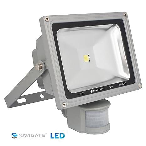 Foco Proyector LED 50W exterior IP65 (resistente al agua), Foco LED con Sensor