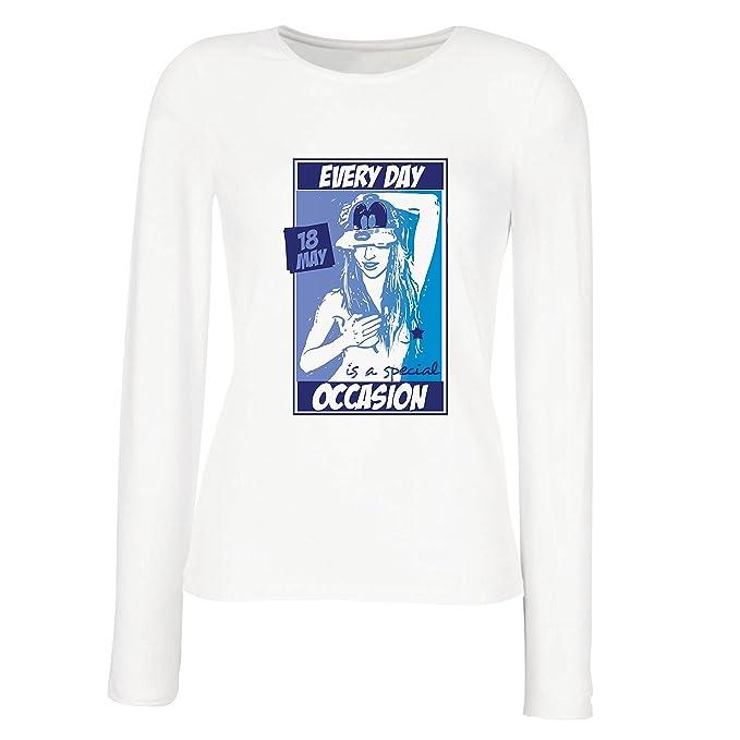 lepni.me Camisetas de Manga Larga Para Mujer ¡Todos Los Días ES Una Ocasión
