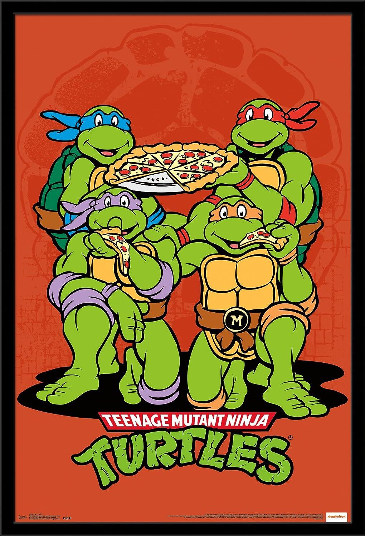 Trends International Teenage Mutant Ninja Turtle-Pizza Wall Poster, 24.25
