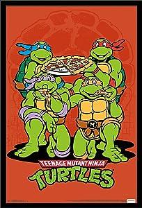 Trends International Wall Poster Teenage Mutant Ninja Turtle Pizza, 22.375 x 34