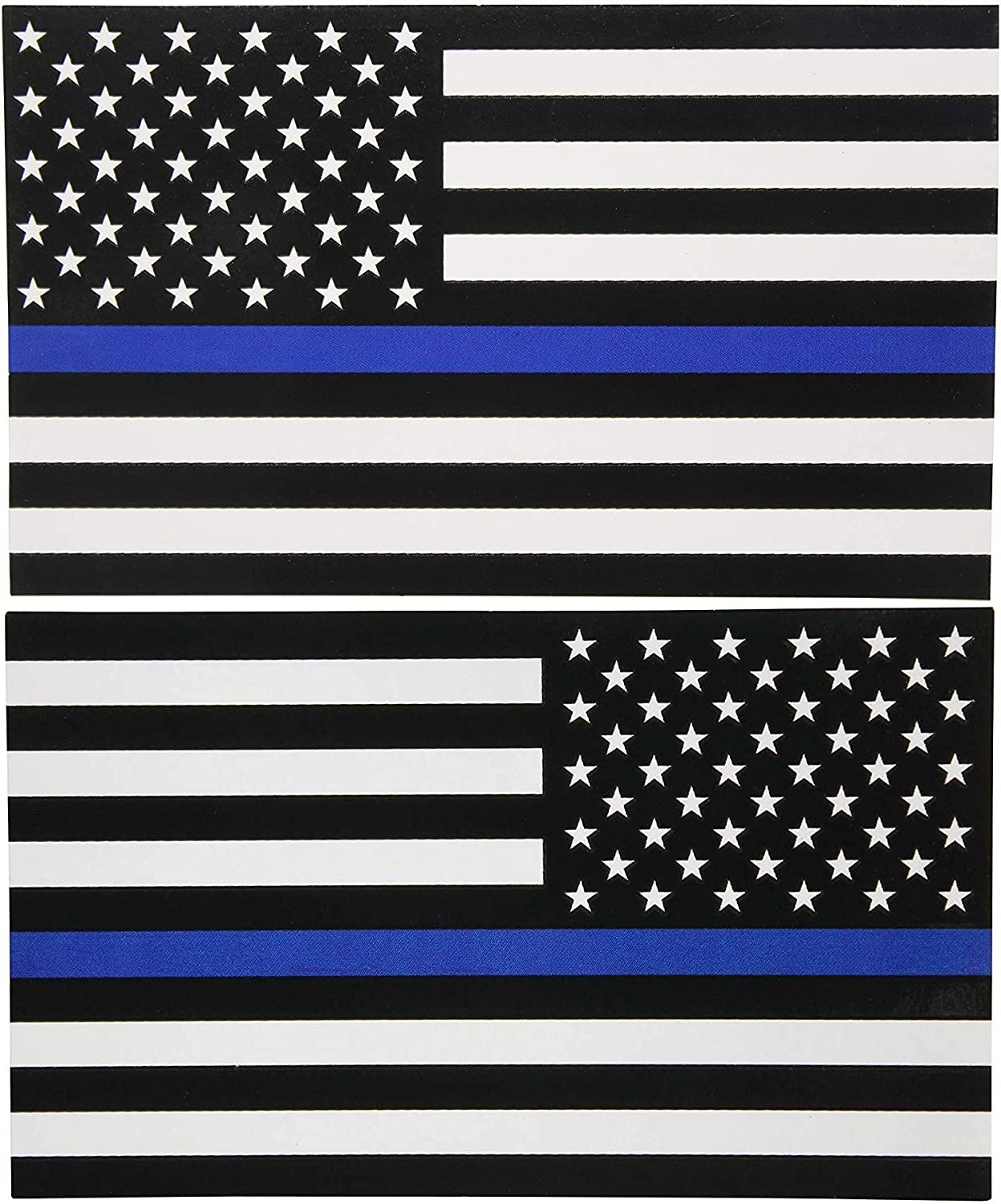 3 Inch Non-Reflective Thin Blue Line Rustic American Flag Sticker Decal