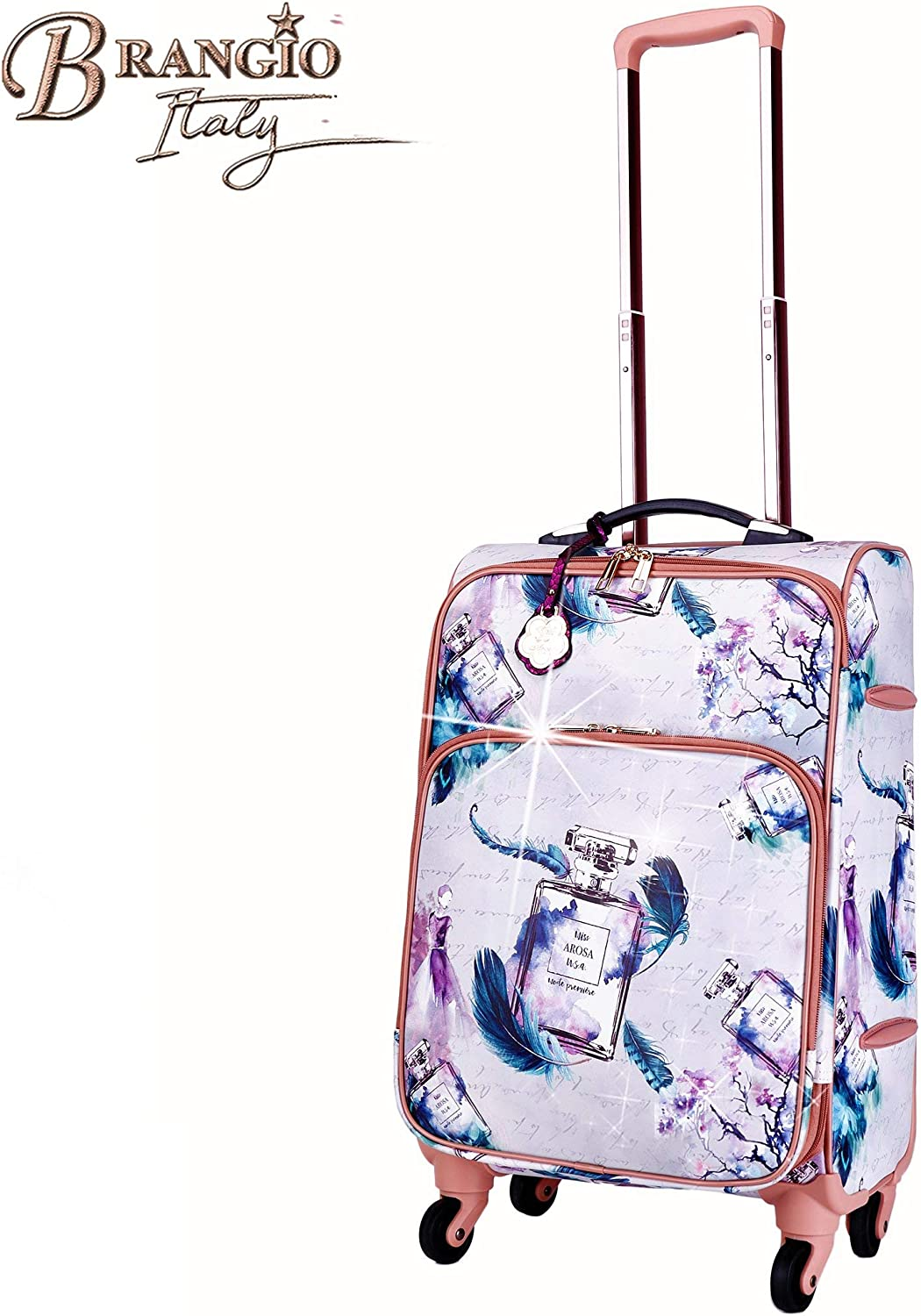 Sweet Scent Travel Suitcase Vintage Hollywood Graphic Design Luggage