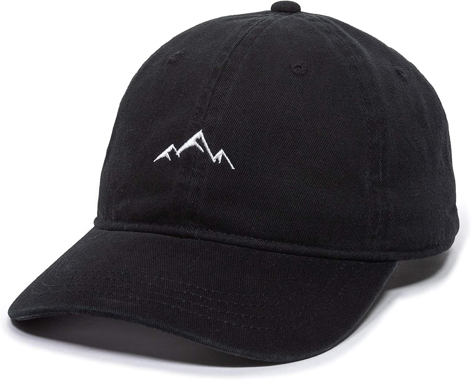 Outdoor Cap -Adult Mountain Dad Hat-Unstructured Soft Cotton Cap, Black, One Size (AMZ4067459)