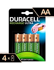 Duracell Recharge Ultra Type AA Batteries 2500 mAh, Pack of 4