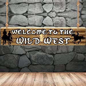 Western Party Decoration Supplies Western Cowboy Themed Banner Supplies Western Party Backdrop Photo Booth Wall Party Décor