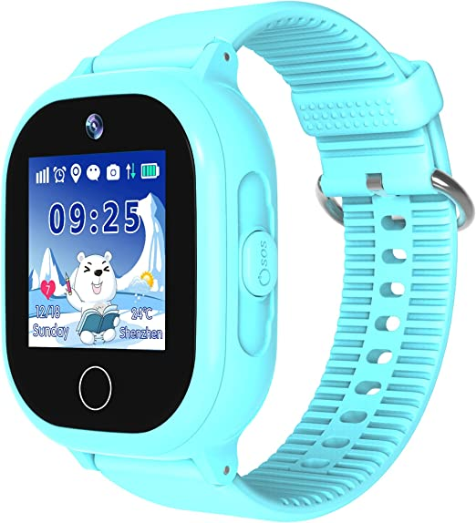Amazon.com: Reloj inteligente impermeable para niños, con ...