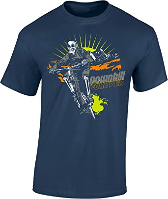 Camiseta de Bicileta: Downhill Forever - Regalo para Ciclistas ...