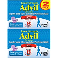 2-Pack of 24-Count Advil Junior Strength Fever Reducer / Pain Reliever Chewable Tablets