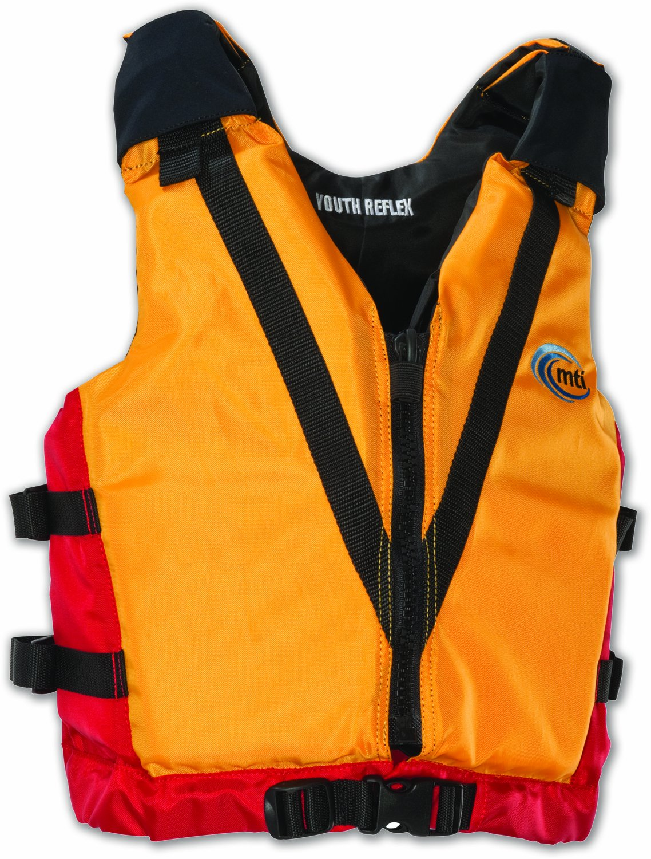MTI Adventurewear反射PFDライフジャケット Youth/50-90-Pound Youth/50-90-Pound Mango/Red Mango MTI/Red B004T487R6, 快適エレキング:11eeb5db --- rodebyjakt.se