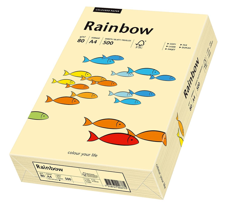 Schneidersöhne 88042275 - Rainbow, Fogli colorati multiuso A4, 80 g/m2, 500 fogli, colore: Fulvo chiaro
