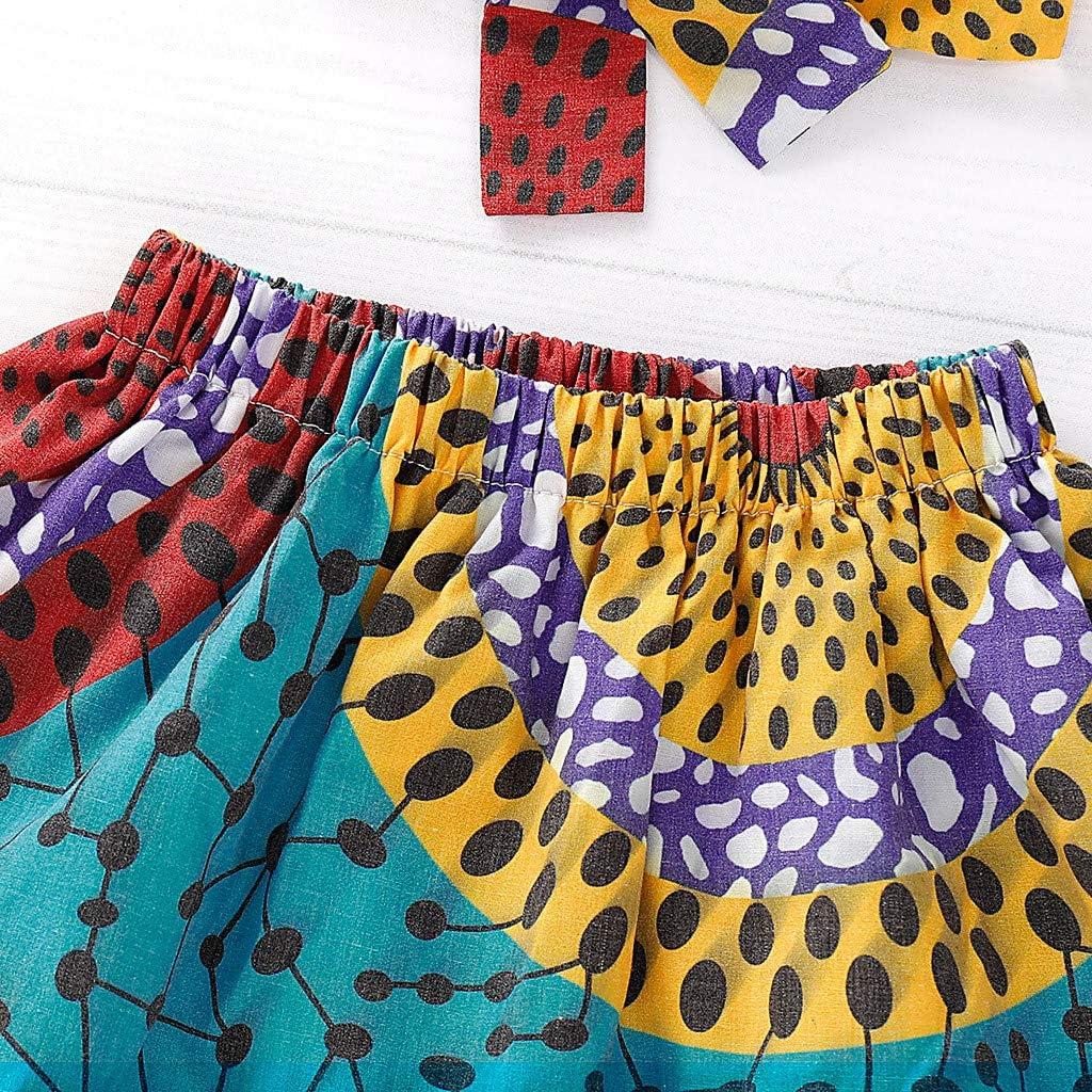 QinMMROPA Falda Africana de beb/é ni/ña Conjunto de Ropa de Diadema Falda de Estilo /étnico