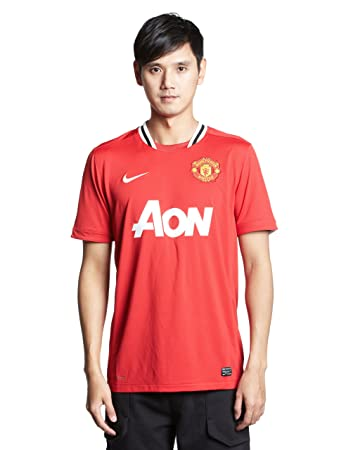 6fc6bcc6550 Nike Man Utd Home Replica Mens Short Sleeve Jersey  Amazon.co.uk ...
