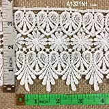 """4.75"""" Wide Metallic Royalty Trim, Cuffs of Sleeves, Costume, Victorian, Bridal, 2 Yard Lot White"""
