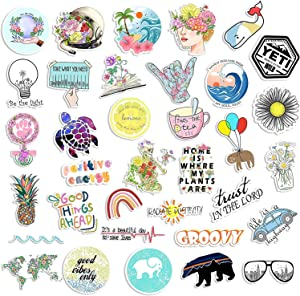 Positive Cute Aesthetic Stickers for Hydro Flash Water Bottle[50pcs] Puravide Travel Explore Design for Laptop Phone Case Tumbler Cup Folder Bike Helmet Car Luggage Skateboard, Kids Teens Girls Gift