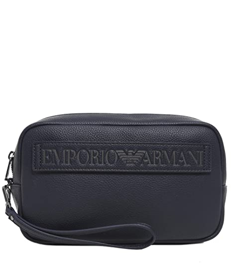 Armani Men s Maxi Logo Wash Bag One Size Blu  Amazon.co.uk  Shoes   Bags 1902ce06ab