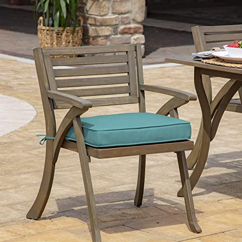 Arden Selections ProFoam EverTru Acrylic 19 x 20 x 3.5 Inch Rounded Back Outdoor Dining Cushion