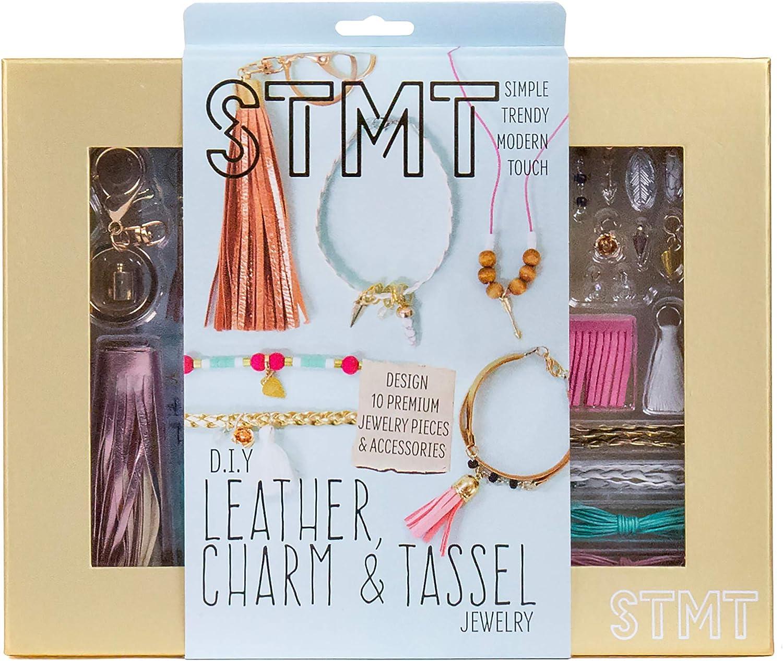 DIY leather fringe necklace kit one of a kind home craft kids craft gift idea
