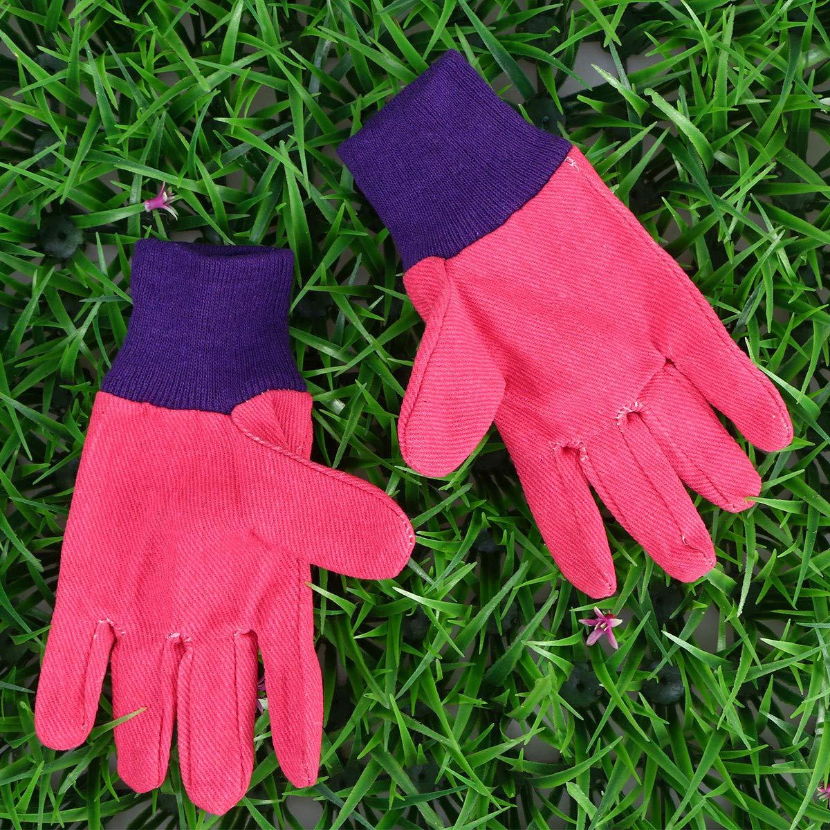 Toyvian Outils de Jardinage Jouet de Jardinage en Plein air avec Sac de Transport Portable Petite Trousse doutils de Plantation Cadeau pour Enfants