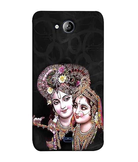 free shipping b60ff fe1c2 Micromax Bolt Q338 Back Cover Lord Radha Krishna Design: Amazon.in ...
