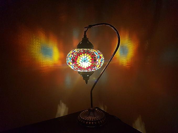 Mosaic lámpara de mesa, 16,5 cm, lámpara de escritorio, farol ...