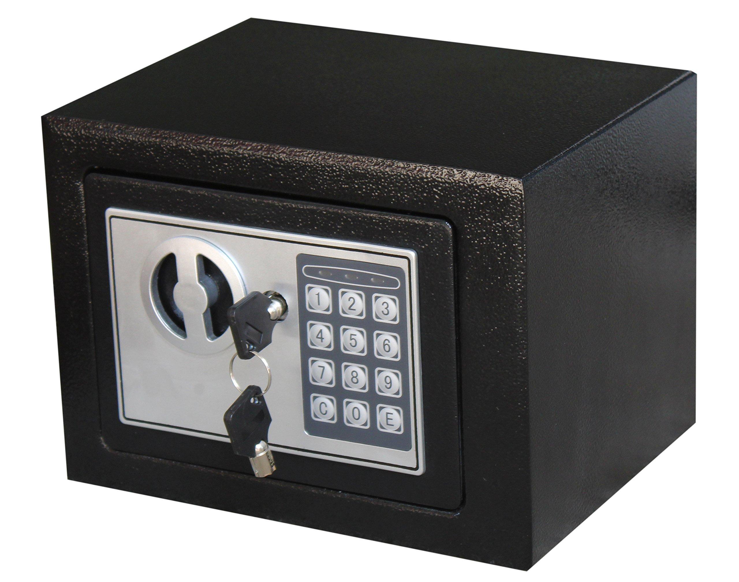 Royal Brands Square Electronic Gun Safe Money Jewelry Passport Home Hotel Office (Black)