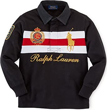Ralph Lauren Polo niños Big Pony – Patrimonio Camisa de Rugby de ...