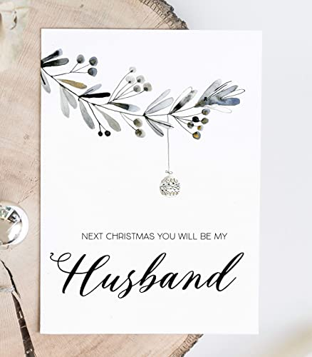Amazon Com Christmas Card For Boyfriend Next Christmas You Will Be My Husband Fiance Card Xmas Gift From Girlfriend Gift For Him Handmade