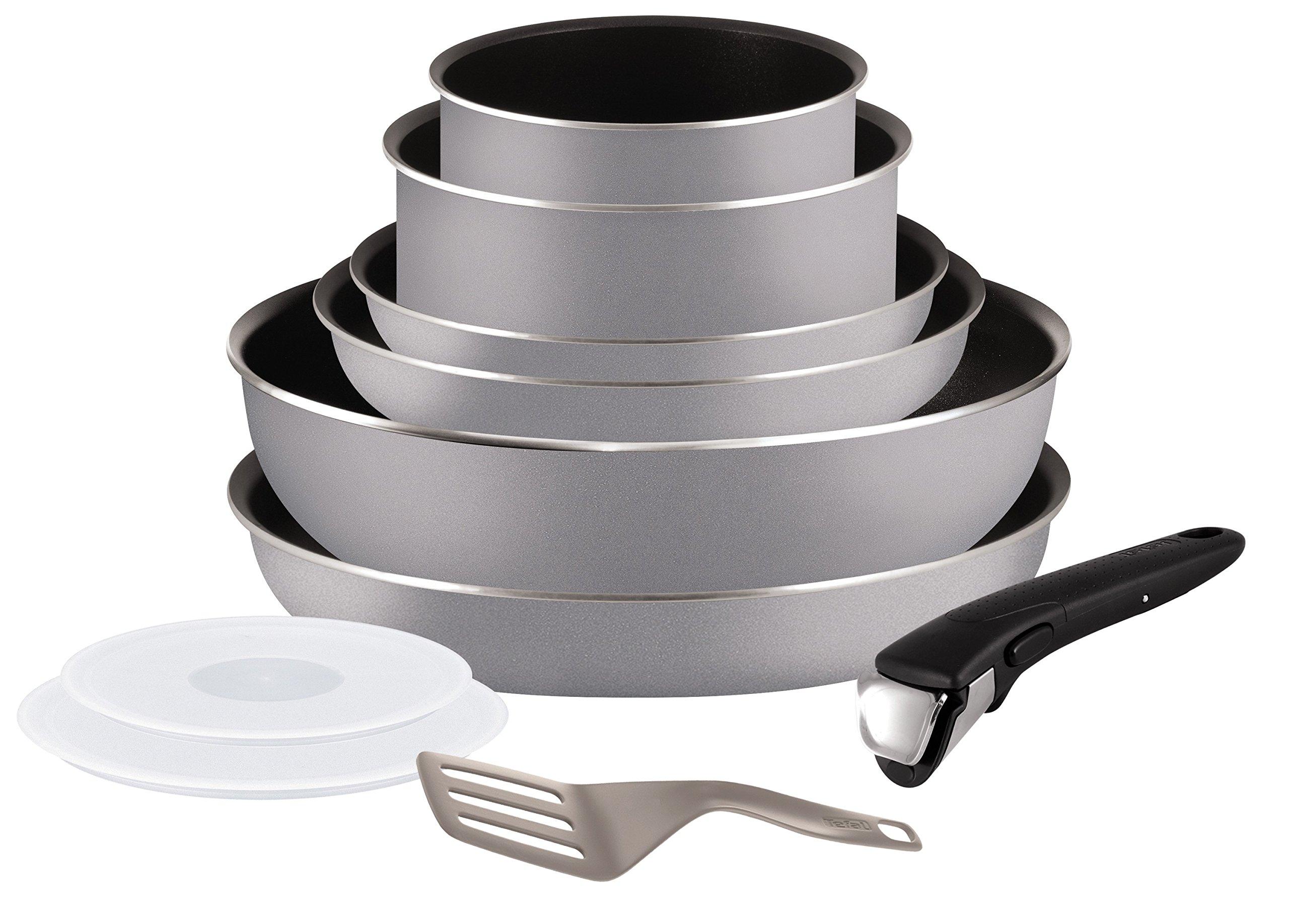 Tefal L2149602 Set de poêles et casseroles - Ingenio 5 Essential Gris Set 10 Pièces - Tous feux sauf induction product image
