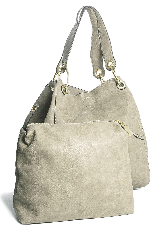 Big Handbag Shop Two in One Womens Bucket Style Large Shoulder Tote Bag