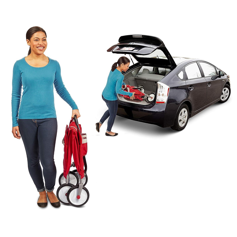 Radio Flyer 3-in-1 EZ Folding Wagon for kids and cargo Renewed