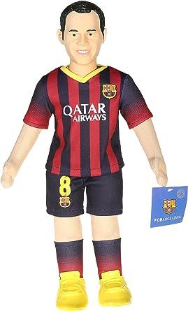 Oficial FC Barcelona Andres Iniesta Fútbol Player Bubuzz muñeca