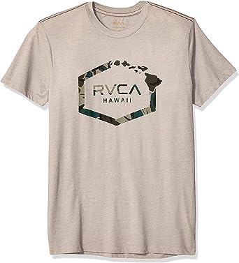 RVCA Mens Island Hex Short Sleeve T-Shirt, Overcast, S: Amazon.es: Ropa y accesorios