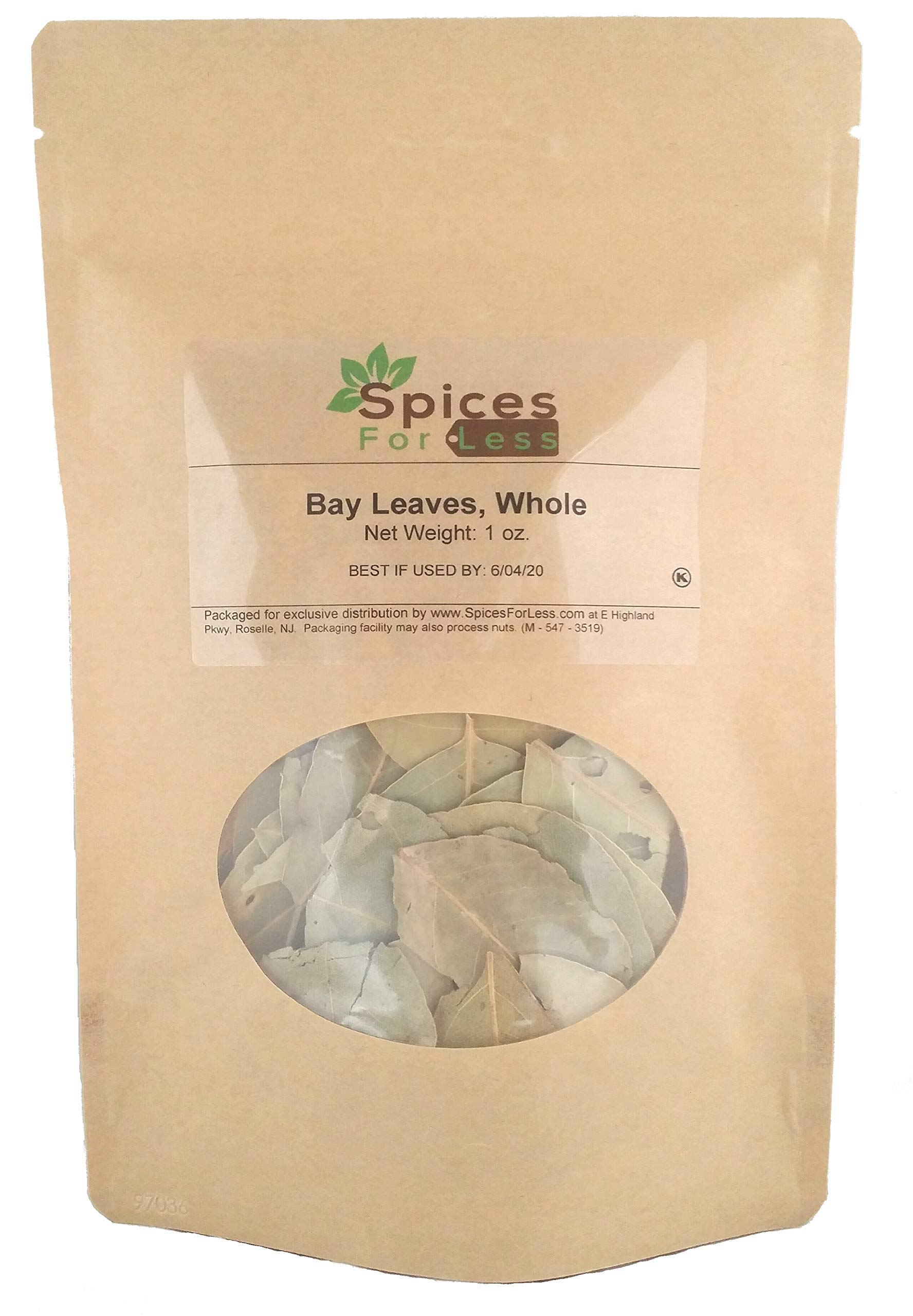 SFL Bay Laurel Leaves, Whole - Kosher Certified (1 oz)