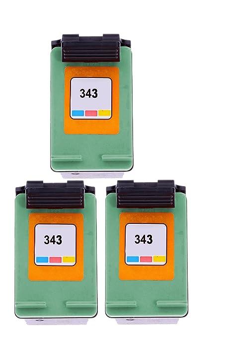 Merotoner® - 3 cartuchos de impresora para HP 343 hp deskjet ...