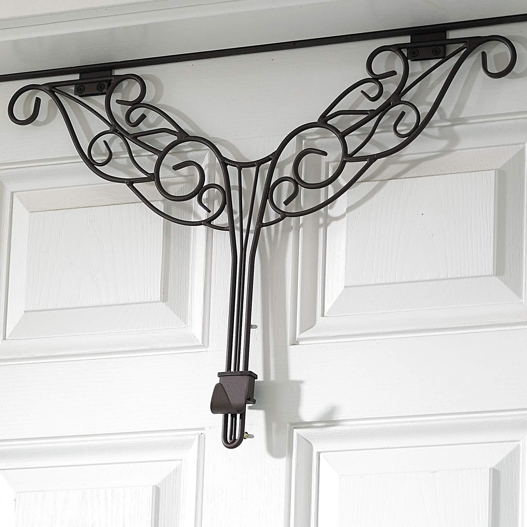 BrylaneHome Adjustable Antler Wreath Hanger - Brown by BrylaneHome