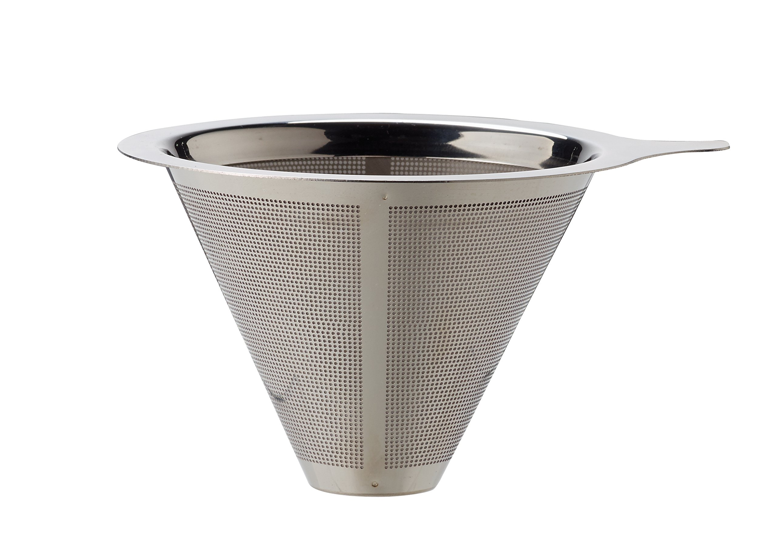 HIC Harold Import Co. 43782 Pour-Over Coffee Filter, Stainless Steel, 4-Servings, 4-Cup Capacity