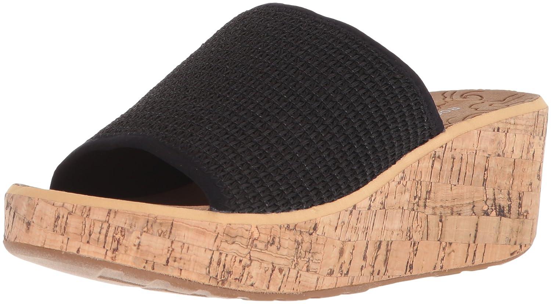 Rockport Women's Lanea Woven Slide Sandal B073ZRR1CY 10 B(M) US|Black Woven