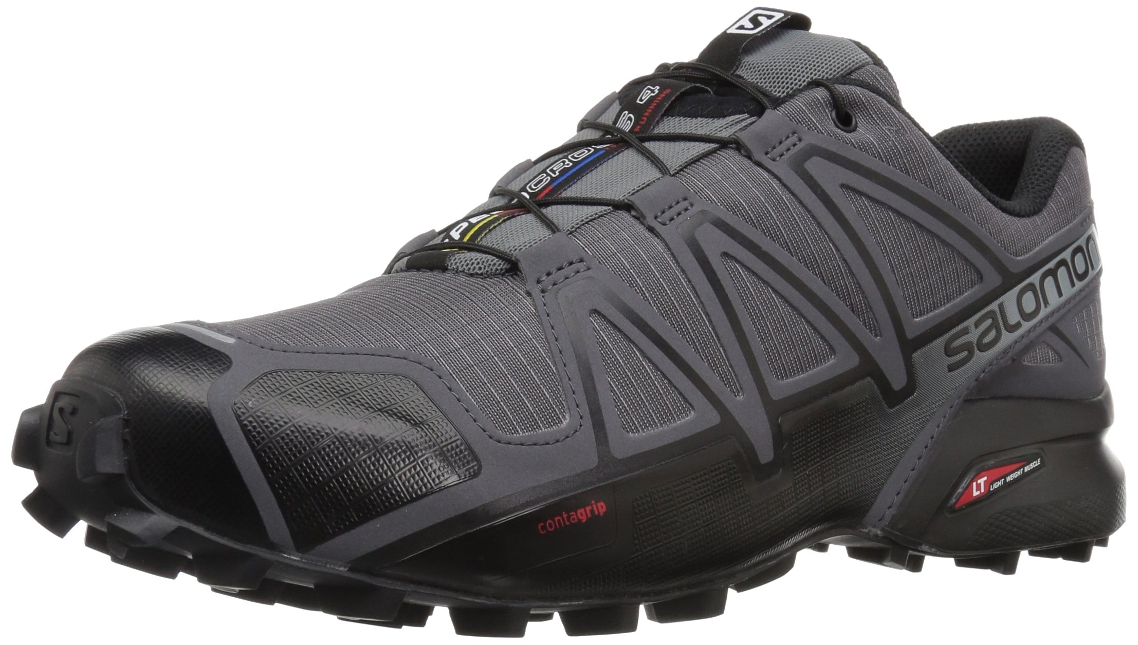 Salomon Men's Speedcross 4 Trail Running Shoe, Dark Cloud, 7 M US by Salomon (Image #1)