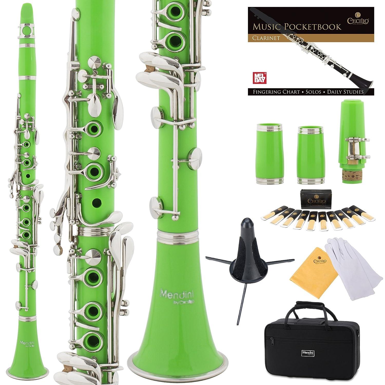 Clarinete verde Mendini con funda y accesorios (xmp)