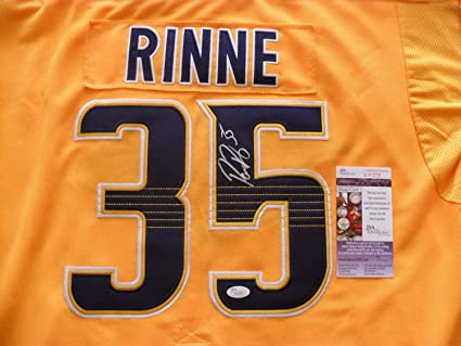 sports shoes 740cd 06110 Pekka Rinne Autographed Signed Nashville Predators Jersey ...
