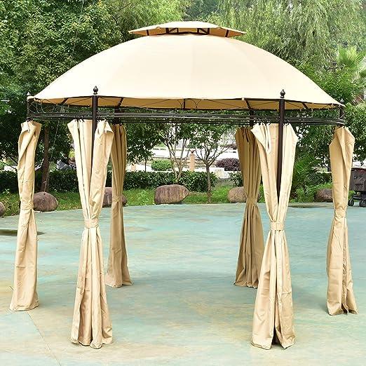 Nueva mtn-g 10 ft redonda al aire libre Gazebo toldo refugio toldo tienda de campaña Patio jardín: Amazon.es: Jardín