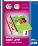 BAZIC Clear Front Report Covers w/ Sliding Bar to Bind School or Office Reports and Manuals (3 Pack)