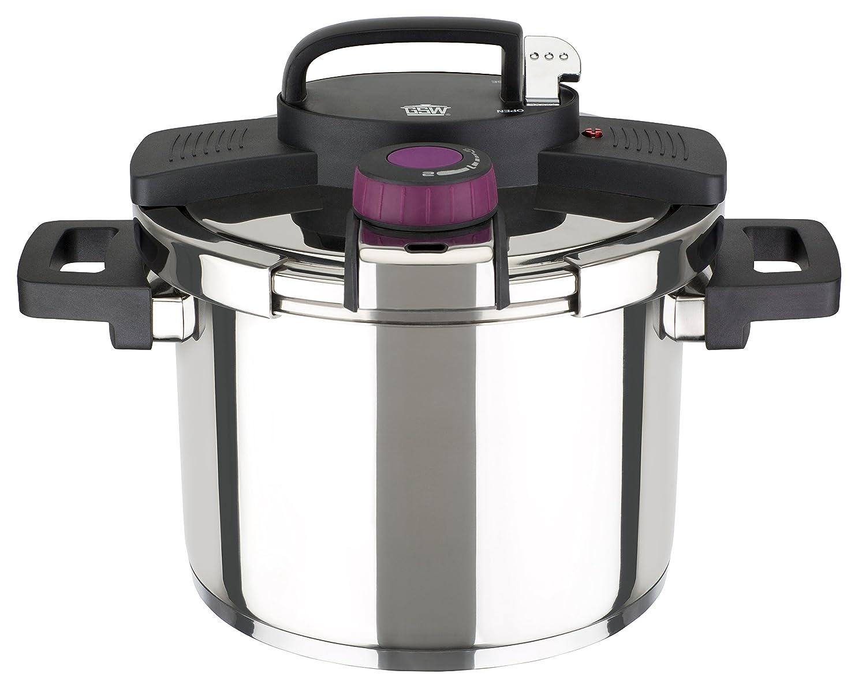 GSW 822091 Easy Click® Olla con Accesorio y Escala de litros 22 cm/Aprox. 6,0 litros, Acero Inoxidable, Plata, 36 x 23,5 x 18,5 cm, 3 Unidades: Amazon.es: ...