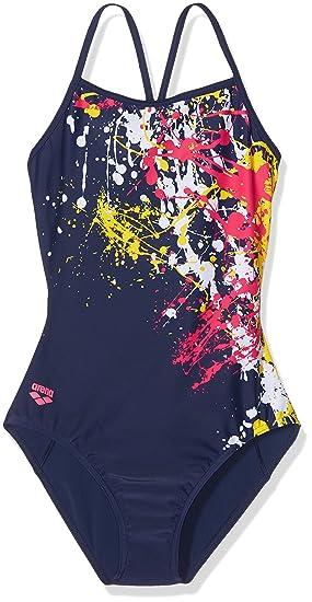 acca7236d82e4 Arena Girls' G Drip Swimming Costume, Navy, 24: Amazon.co.uk: Sports ...